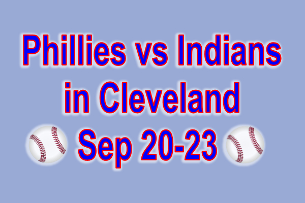 Phillies vs Indians in Cleveland